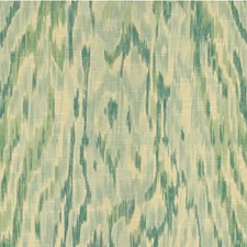Beige/Teal Ikat Drapery and Upholstery Fabric by Kravet