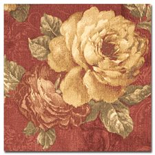 Burgundy/Red/Gold Print Drapery and Upholstery Fabric by Kravet