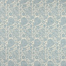 Ivory/Blue Botanical Drapery and Upholstery Fabric by Kravet