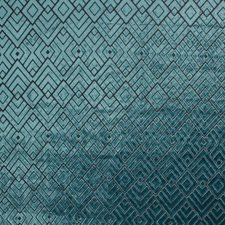Teal Drapery and Upholstery Fabric by RM Coco