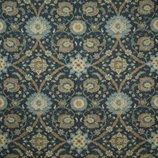 Indigo Traditional Drapery and Upholstery Fabric by Pindler