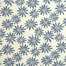 Blue Botanical Drapery and Upholstery Fabric by Parkertex