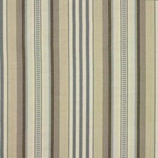 Aqua/Cream Stripes Drapery and Upholstery Fabric by Baker Lifestyle