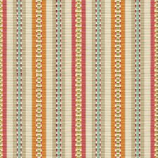 Fuchsia/Sienna Stripes Drapery and Upholstery Fabric by Baker Lifestyle