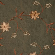 Pesto Embroidery Drapery and Upholstery Fabric by RM Coco