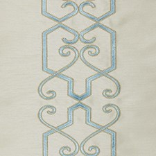 Turquoise Drapery and Upholstery Fabric by RM Coco