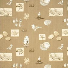 Oatmeal Animal Drapery and Upholstery Fabric by Parkertex