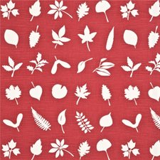 Red Botanical Drapery and Upholstery Fabric by Baker Lifestyle