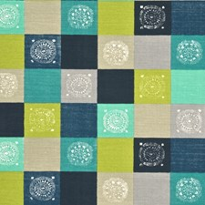 Indigo/Turquoise/Lime Drapery and Upholstery Fabric by Baker Lifestyle