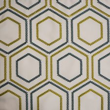 Blue/Green/White Traditional Drapery and Upholstery Fabric by JF