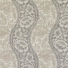 Grey Floral Vine Drapery and Upholstery Fabric by Duralee