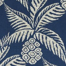 Navy Botanical Drapery and Upholstery Fabric by Duralee