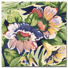Green/Yellow/Blue Tropical Drapery and Upholstery Fabric by Kravet