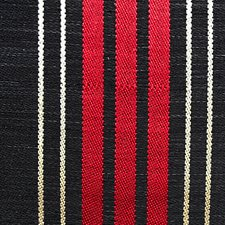 Black/Red/Beige Drapery and Upholstery Fabric by Scalamandre