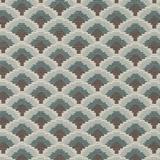 Teal Flame Stitch Drapery and Upholstery Fabric by Duralee