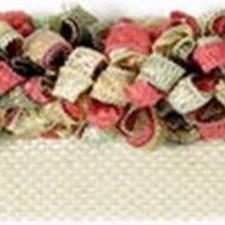Rouche Pink/Gold/White Trim by Kravet