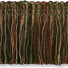 Moss Green/Burgundy/Red Trim by Kravet