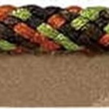 Cord With Lip Brown/Rust/Green Trim by Kravet