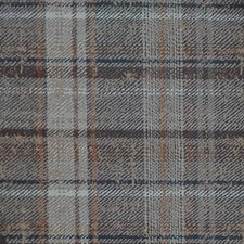 Grey/Taupe/Orange Plaid Drapery and Upholstery Fabric by Kravet
