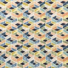 Indigo Multi Geometric Drapery and Upholstery Fabric by Kravet