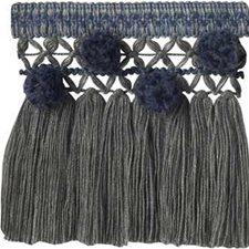 Skirt Fringe Blue/Slt Trim by Lee Jofa