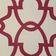 Burgundy/Red/Creme Transitional Drapery and Upholstery Fabric by JF