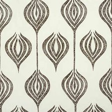 White/Chocolate Contemporary Drapery and Upholstery Fabric by Groundworks