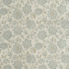 Teal/Green/Light Grey Jacobeans Drapery and Upholstery Fabric by Kravet