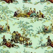 Sage Toile Drapery and Upholstery Fabric by Kravet