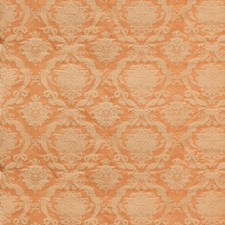 Apricot Damask Drapery and Upholstery Fabric by Scalamandre