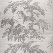 Slate On Gray Leaves Wallcovering by Stroheim Wallpaper