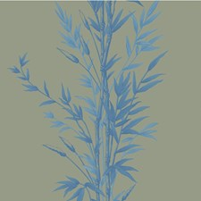 Blue On Khaki Wallcovering by Cole & Son Wallpaper