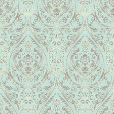 Turquoise Transitional Wallpaper Wallcovering by Brewster