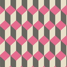 Pink and Black Print Wallcovering by Cole & Son Wallpaper