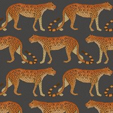 Charcoal/Orange Print Wallcovering by Cole & Son Wallpaper