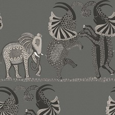 Charcoal Black/White Print Wallcovering by Cole & Son