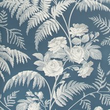 White/Ice Blue/Denim Print Wallcovering by Cole & Son Wallpaper