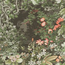 Coral/Olive/Char Print Wallcovering by Cole & Son Wallpaper