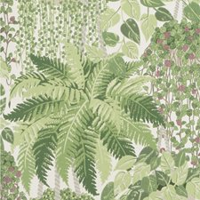 Leaf Green and Olive Print Wallcovering by Cole & Son Wallpaper