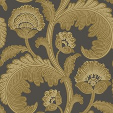 Ochre/Char Botanical Wallcovering by Cole & Son Wallpaper