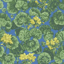 Lemon/Forest Green/Electric Blue Botanical Wallcovering by Cole & Son Wallpaper