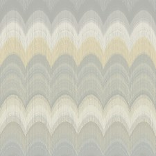 Grey/Silver/Yellow Transitional Wallcovering by JF Wallpapers