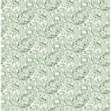 Green Paisley Wallcovering by Brewster