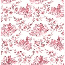 Merlot Toile Wallcovering by Brewster