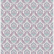 Plum Damask Wallcovering by Brewster
