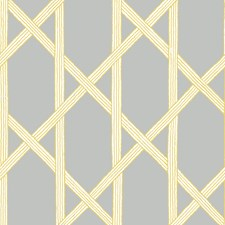 Grey/Yellow Wallcovering by Brewster