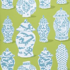 Lime Turquoise Global Wallcovering by Stroheim Wallpaper