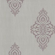 Mauve Transitional Wallpaper Wallcovering by Brewster