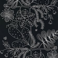 Ebony Wallcovering by Schumacher Wallpaper
