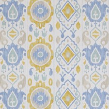 Sky/amp/Ochre Wallcovering by Schumacher Wallpaper